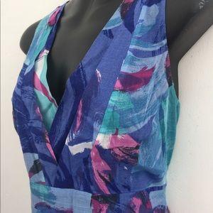 Merona size 8 sleeveless blue cotton dress